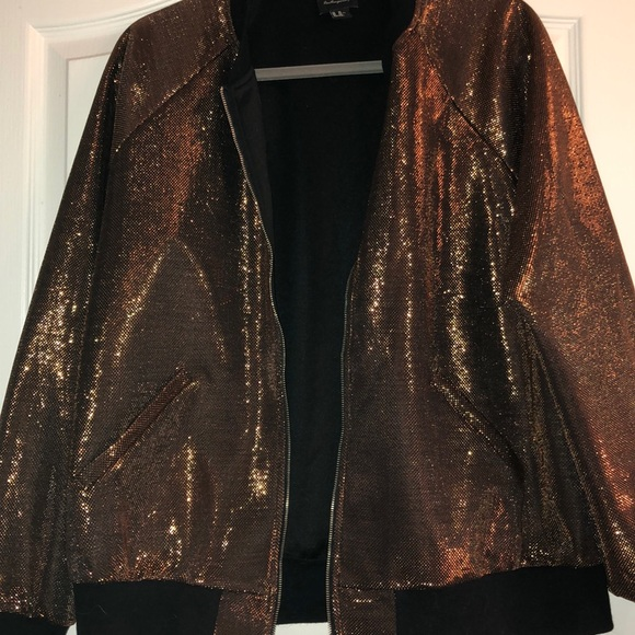 b1a414d29a5 Forever 21 Jackets   Blazers - Copper Weave Bomber Jacket